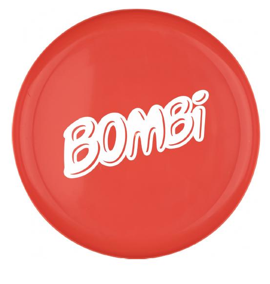 Bombi műanyag frizbi– piros