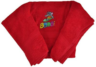 Bombi törölköző – piros