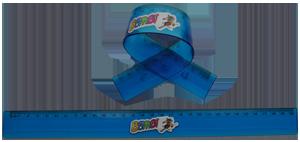 Bombi flexibilis vonalzó – kék