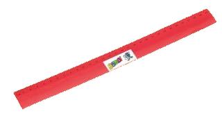 Bombi flexibilis vonalzó – piros